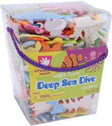 Ideal For 3D And Craft Projects At Home, School And Camp - Fibre-Craft Foam Stickers 5 Oz: Deep Sea Dive