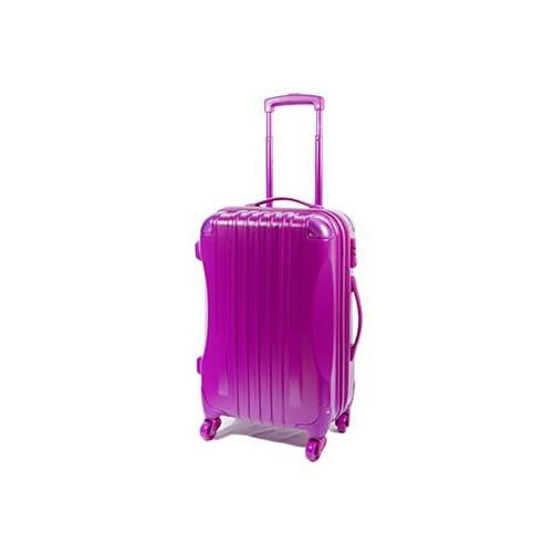 【東京ガールズコレクション ランウェイ商品】ハード キャリーケース actus color's ジッパーキャリー パープル Mサイズ 57cm スーツケース