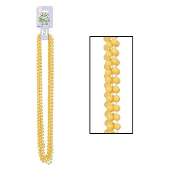 Baby Shower Beads (yellow) Party Accessory  (1