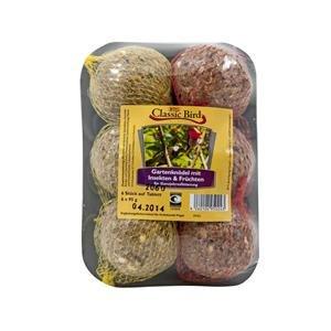 16er Pack Classic Bird Gartenknödel mit Früchten