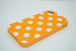Orange Polka Dot Flex Gel Case for Iphone 4 & 4S