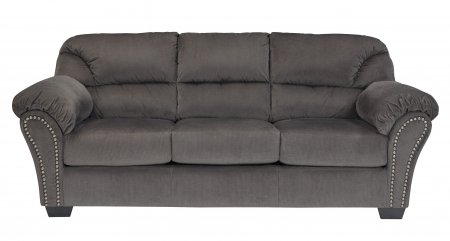 """Ashley Kinlock 3340038 91"""" Stationary Fabric Sofa with Plush Padded Arms Nail-Head Accents and Divided Back Cushions in"""