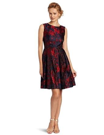 Taylor Dresses Women's Vintage Party Dress, Red, 2