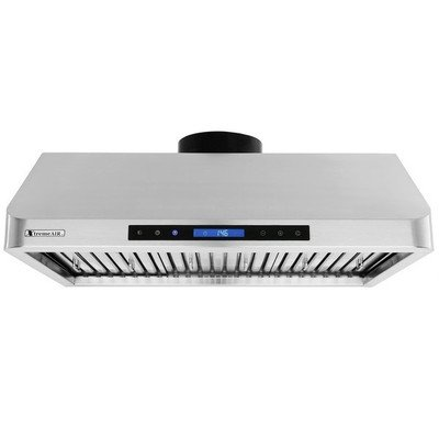 XtremeAir PX10-U30 Under Cabinet Mount Range Hood with 900 CFM Baffle Filter/Grease Drain Tunnel, 30