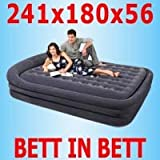 Intex Comfort Frame Luftbett Midnight Blue 241x180x56cm 66974
