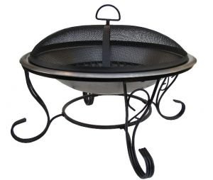 Stainless Steel Firebowl with mesh cover 61cm