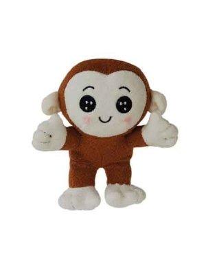 Dog Squeak Toy Monkey 4″ Stuffed Monkey Plush Dog Toy