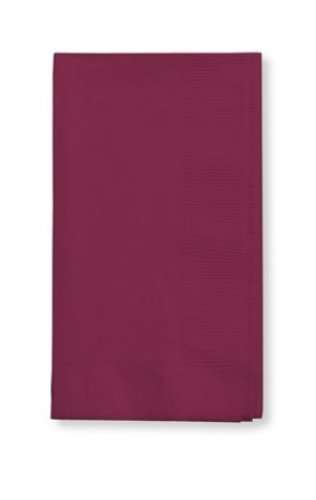 50 gorgeous Burgundy Burgandy Dinner Napkins for Wedding, Party, Bridal or Baby Shower, Disposable Bulk Supply Quality Product