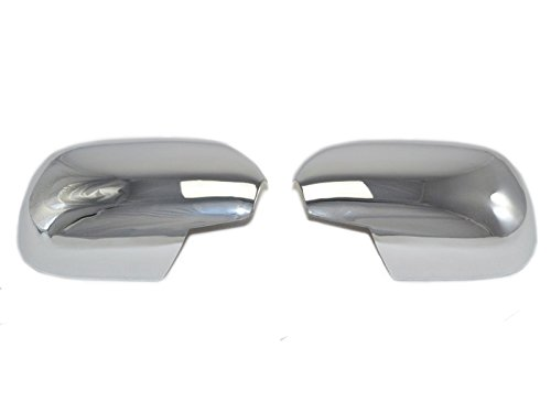 ABS Door Rearview Mirror Covers Trim Chrome 2pcs For Toyota Prado FJ120 2003-2009 (Mirror For Toyota Prado compare prices)