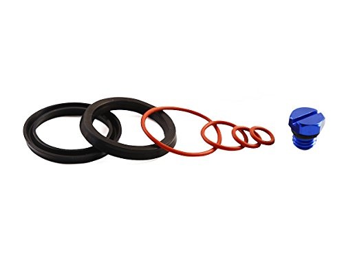 Bautopart Fuel Filter Seal Rebuild Kit and Bleeder Screw for 2001-2010 GM Duramax Fuel Filter Housing (Blue)-Aluminum (Fuel Filter For 2006 Duramax compare prices)