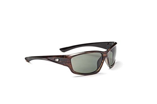 New Balance Stamina Sunglasses, Shiny Driftwood Brown, Oval