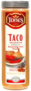 Tone's Spices (Spice Advice) Taco Seasoning Traditional Blend for Mexican Dishes * Net Weight 23 oz