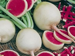 Watermelon Red Radish 200 + Seeds GARDEN FRESH PACK By Seeds and Things