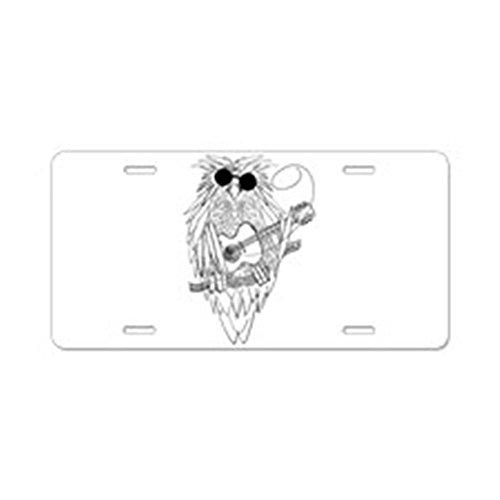 CafePress - Music Owl - Aluminum License Plate, Front License Plate, Vanity Tag (License Plate Frame Rock Music compare prices)