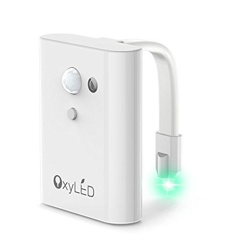 OxyLED TN01 Toilet Night Light, Light Sensitive & Motion-activated Toilet Light(Battery-Operated), 12...