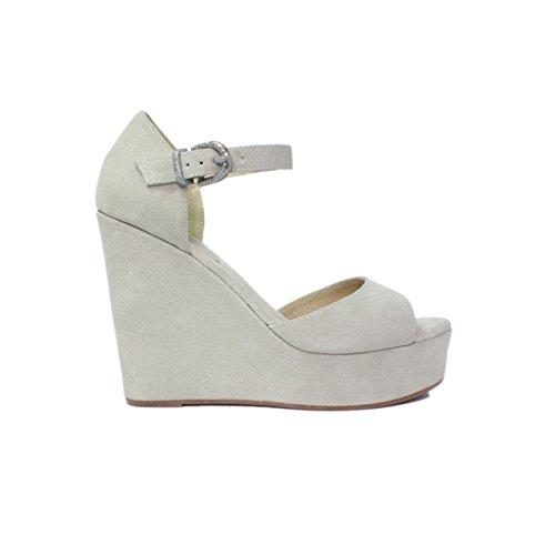 Sandales compensées Chaussures Femme Femme Plus haute N09-01 Cam. Collection Blanc New Été 2015 Made in Italy
