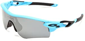 Oakley Herren Sonnenbrille Radarlock, matte glacier/black iridium polarized & g40 path, OO9181-07