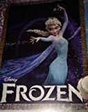 Disney Frozen Woven Tapestry Throw (Elsa Queen of Ice )