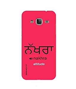 RICKYY _J3_1262 Printed Matte designer Nakhra Attitude case for Samsung J3