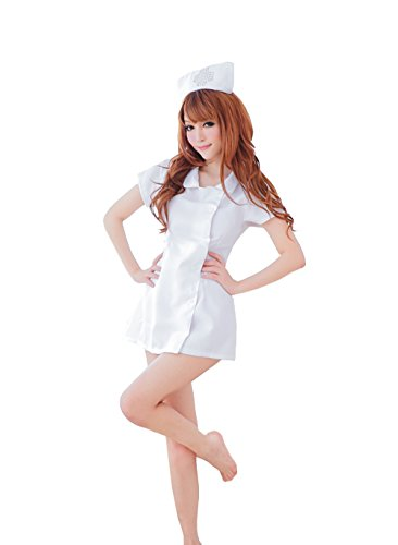 Women's Hot Sexy White Nurse Uniform