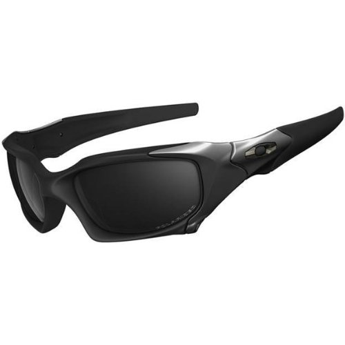 Oakley Titanium Pit Boss Polarized Sunglasses For Menanium/Black Iridium, Size: One Size Fits All