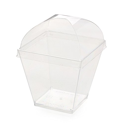 200 ml square cup with cover 1000 only (Jin Jin Jelly compare prices)