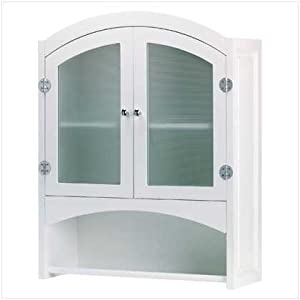 swm 35013 wood bathroom wall cabinet white welcome