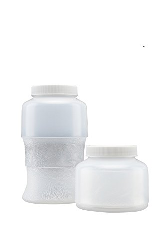 Flex Collect 200648 Collapsible Lpde (Low Density Polyethylene) Container, White Screw Cap, 500 Ml Capacity, Natural (Pack Of 24) front-472765