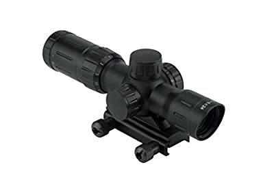 Monstrum Tactical 1.5-6x24 Compact Rifle Scope with Illuminated Mil-Dot Reticle from Monstrum Tactical