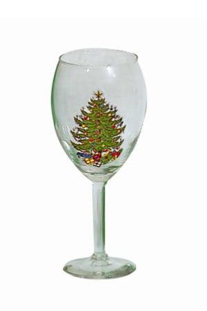 Cuthbertson Original Christmas Tree 19.5 oz Wine Vino Grande, Set of 2 Cuthbertson Christmas Tree