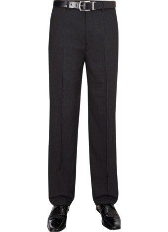 Austin Reed Regular Fit Charcoal High Twist Trouser SHORT MENS 32