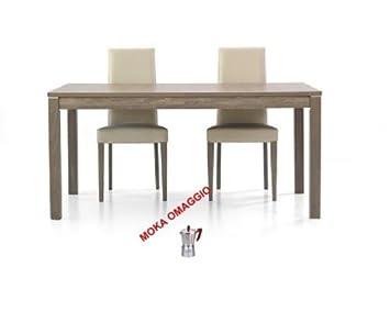 TABLES&CHAIRS tavolo bianco o grigio rettangolare allungabile legno frassino 562 160x90x76