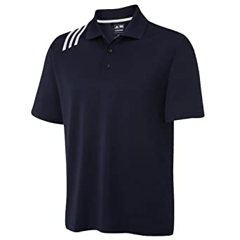 Buy Adidas Golf Climacool® Mens 3-Stripe Solid Polo Shirt by adidas