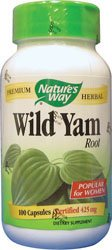 Natures Way Wild Yam, 425mg 100 Capsules