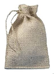 4 X 6 Burlap Bags with Drawstring - Lot of 24 by Premium Bags