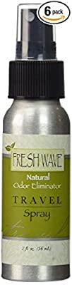 Fresh Wave Natural Odor Eliminator Travel Spray, 2-Ounce Bottles (Pack of 6)
