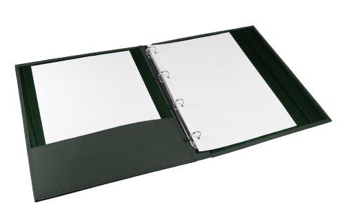 Lucrin - Classificatore A4 anelli piccoli - Vacchetta liscia - Pelle - Verde
