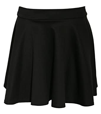 Pilot Women's Ellie Scuba Skater Skirt (2, Black)
