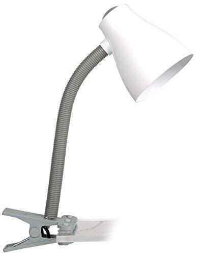 Klemmleuchte, Schreibtischlampe grau / weiß 6000.631