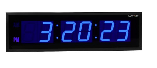 Dbtech 0130Blu Huge Large Big Oversized Digital Led Clock, 30 Inch Blue