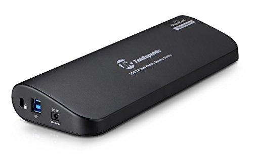 Tek Republic USB3.0多機能ドッキングステーション デュアルディスプレイ(VGA,DVI,HDMI) Gigabit LANアダプタ USB3.0ハブ TUD-3000