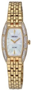 Seiko Women's SUP156 Stainless Steel Analog Mother-Of-Pearl Dial Watch
