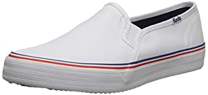 Keds Women's Double Decker Slip-On Sneaker, White, 9 M US