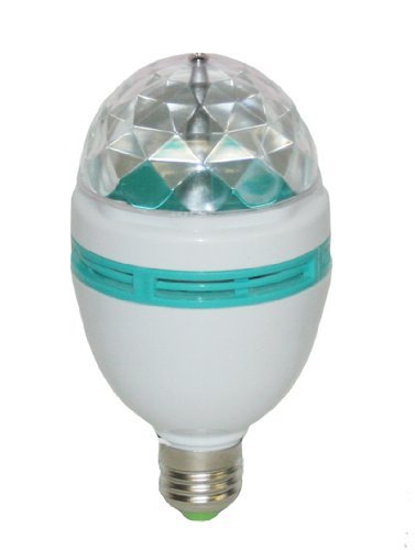 Full Color Rotating Lamp Strobe Led Crystal Stage Light Bulb For Disco Party Club Bar Dj Ball Multi Color