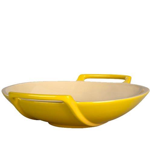 Le Creuset Stoneware Wok Dish, Dijon