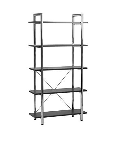 Euro Style Laurence-5 Shelf Unit, Black