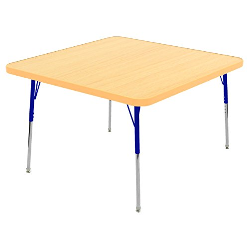 Ecr4kids 30 square activity table toddler legs w swivel glides maple top navy legs general - Table glides for legs ...
