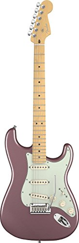 Fender American Deluxe Stratocaster Electric Guitar, Maple Fingerboard - Burgundy Mist Metallic