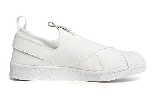 Adidas Women Superstar Slip On (white / white / black) Size 8 US