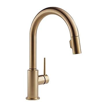 Delta Single Handle Trinsic Kitchen Faucet, Champagne Bronze